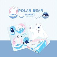 Wholesales Polar Bear Swaddle Soft Baby Blanket Size 30x40 inches