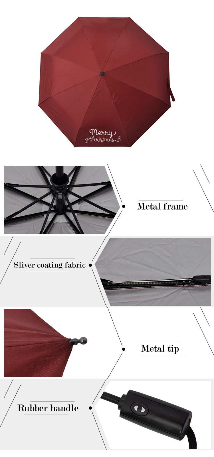 FF-10 customized windproof auto opening folding umbrella automatic folding