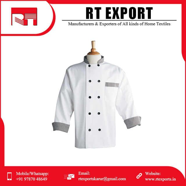 Manufacturer In India Wholesale Women Mens Cotton Chef Jacket Coat