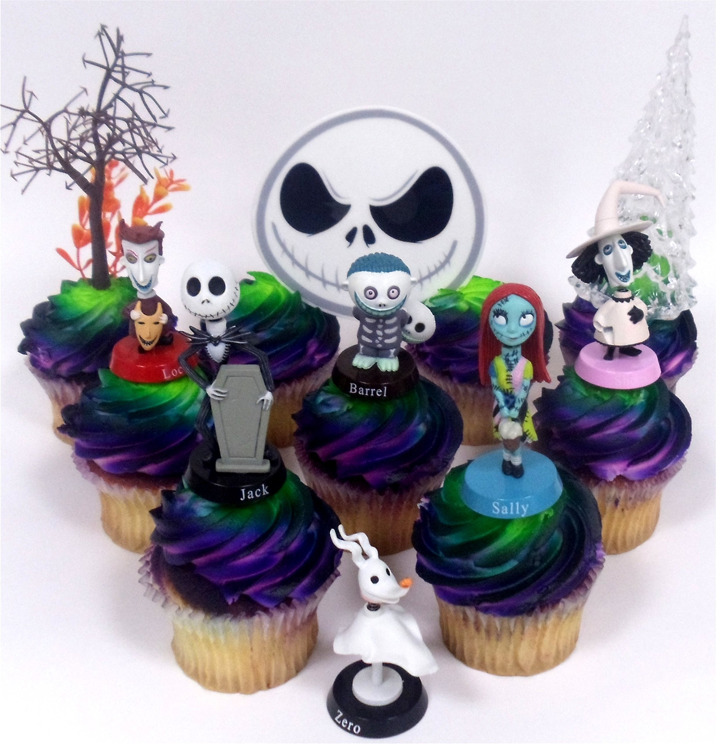Buy Nightmare Before Christmas 10 Piece Deluxe Cupcake Topper Set ...