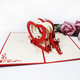 Valentine's Day Card Love Bench Pop Up Card handmade 3d kirigami card