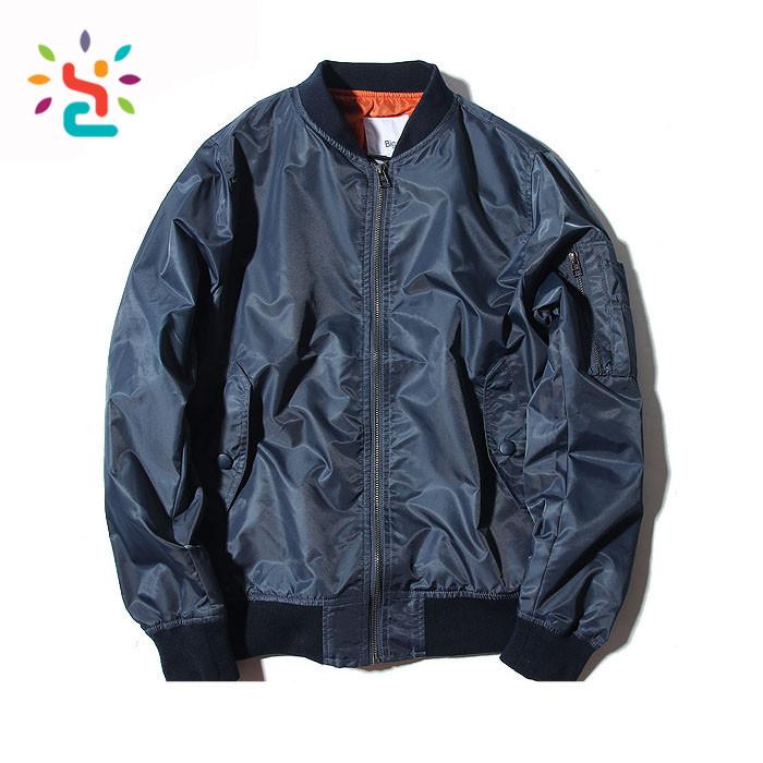 Benutzerdefinierte Herren Orange Bomber Mantel Aviator Jacke Stickerei Jacken Flut Straße Tragen Ma1 Doppel Pilot Jacke Baseball Kleidung Buy