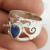 Blue lapis silver band ring gemstone jewellery exporter 925 sterling silver rings jewelry online