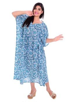 d4efaefab8 Summer Beach Wear Kaftan Handmade Girls Sexy Night Wear Dress Tunic Short  Plus Size Knee Length