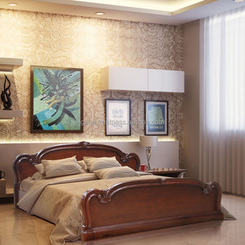 Platform Bed With Carving Mahogany Solid Wood Buy Indonesian