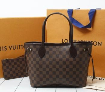 8bdf1d4aab9b Used brand Handbag LOUIS VUITTON N41359 Neverfull PM Damier Ebene Tote bags  for bulk sale.