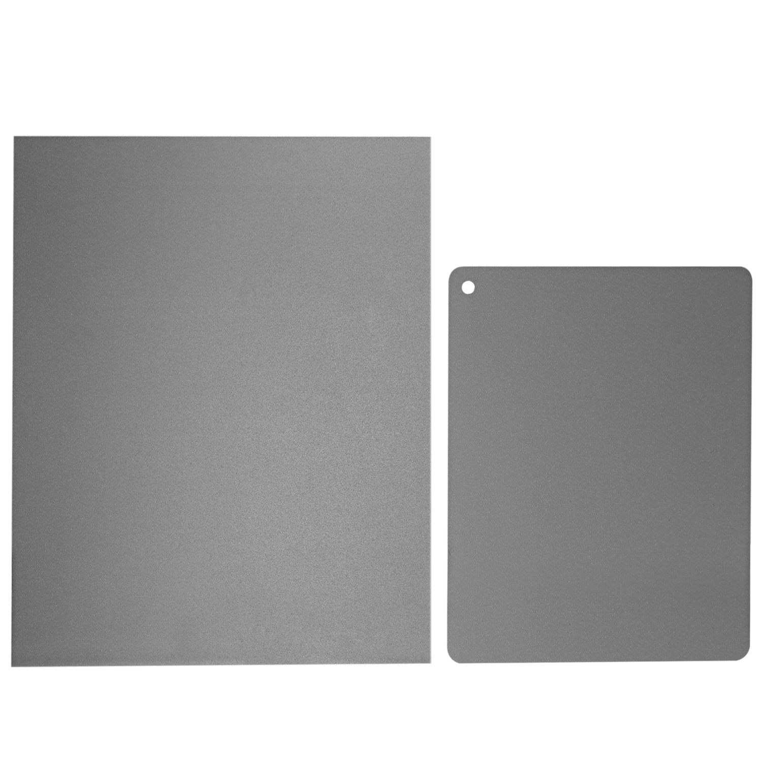 Neewer 2 Pieces Grey Card Set, Custom White Balance 18 Percent Gray Reference Reflector and Exposure Control Photographic Cardboard Kit (8x10 inches, 4x5 inches) for DSLR, Video, Film and Photography