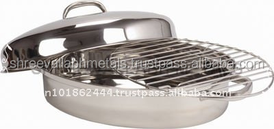 Stainless Steel Oval Roaster With Cover