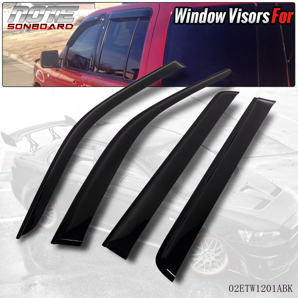 For Ford Explorer 02-05 Dark Grey Out-Channel Window Visor Sun Guard 4pcs