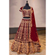 Exclusive embroidered designer wedding wear bridal lehenga choli