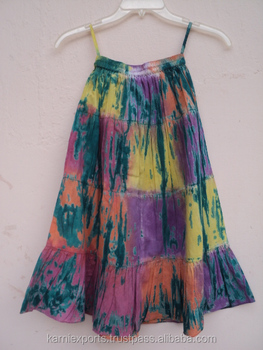 b8a4ac42a3 2018 latest Tie & dye printed skirt pattern girls party wear beautiful  cotton skirt for girls
