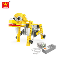 Wange Stem Power Machinery Series The Robotic Dog Educational Toy Building Blocks For Kids