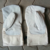 Split Leather Mitten with Canvas cuff / Leather Kitchen Mitten / Leather Oven Mitts / Leather Bakery Mitten