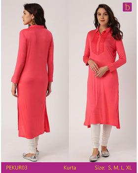 31960ea9be9be Tunics for Women Knee Length Kurta with Khadi Print and Curved Hemline Kurta  Distributors Agents Required