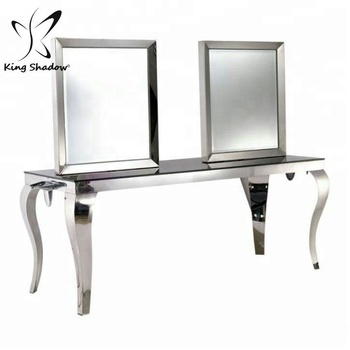 Long Mirror Station Salon Furniture Hair Dressing Mirror ...