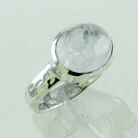 Rainbow Moon Stone 925 Sterling Silver Ring Wholesale Jewelry INDIA
