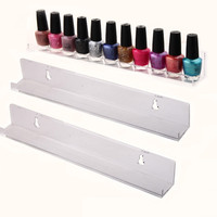 Wholesale price PMMA Nail Polish Holder acrylic cosmetic Display rack