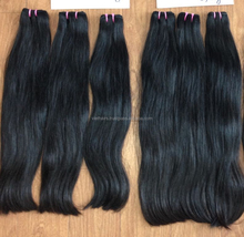 Super double drawn vietnamese human hair silky straight hair extensions no tangle weave hair