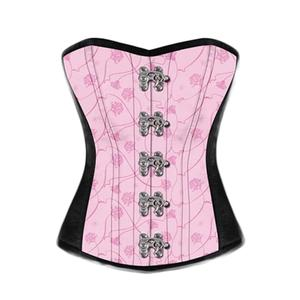 Sexy Wedding Lingerie Corset Lace Floral Women Bustier Waist Shaper Corset with G-string Shapers