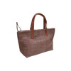 Thailand's Handmade Brown Leather & Hemp Handbag
