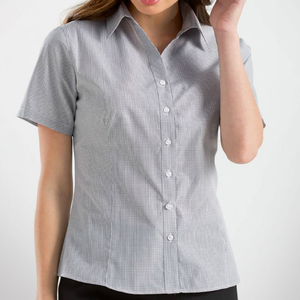 OEM Cheap Custom Plain Short Half Sleeve Office Shirt For Women Corporate Uniform Women's Dress Shirt