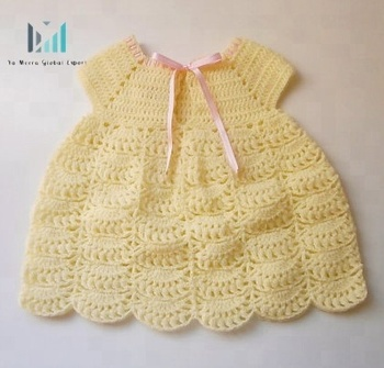Soft Crochet Dress For Babies 0 To 24 Months Baby Girl Waves Crochet