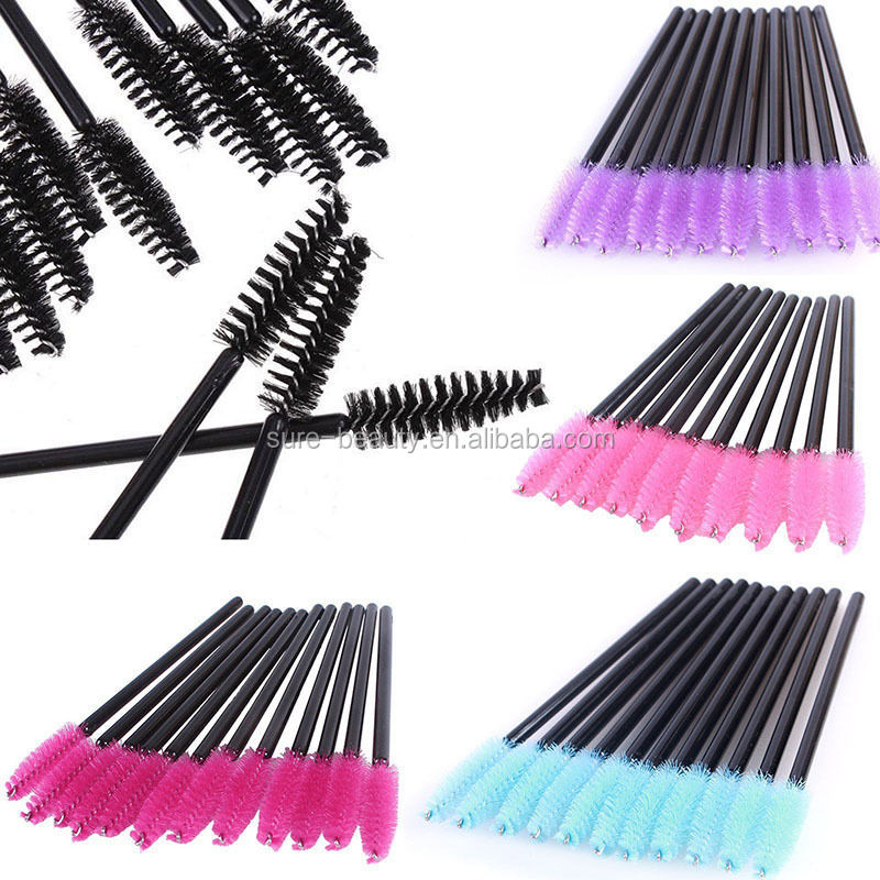 Disposable Micro Eyelash Brushes Mascara Wands Applicator Wand Eyelash Comb Brushes Spoolers Makeup Tool Kit