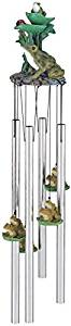 StealStreet SS-G-41952 Wind Chime Round Top Frog Ladybug Hanging Garden Porch Decoration