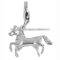 925 sterling silver charms in horse shape silver jewelry wholesale bracelet charm