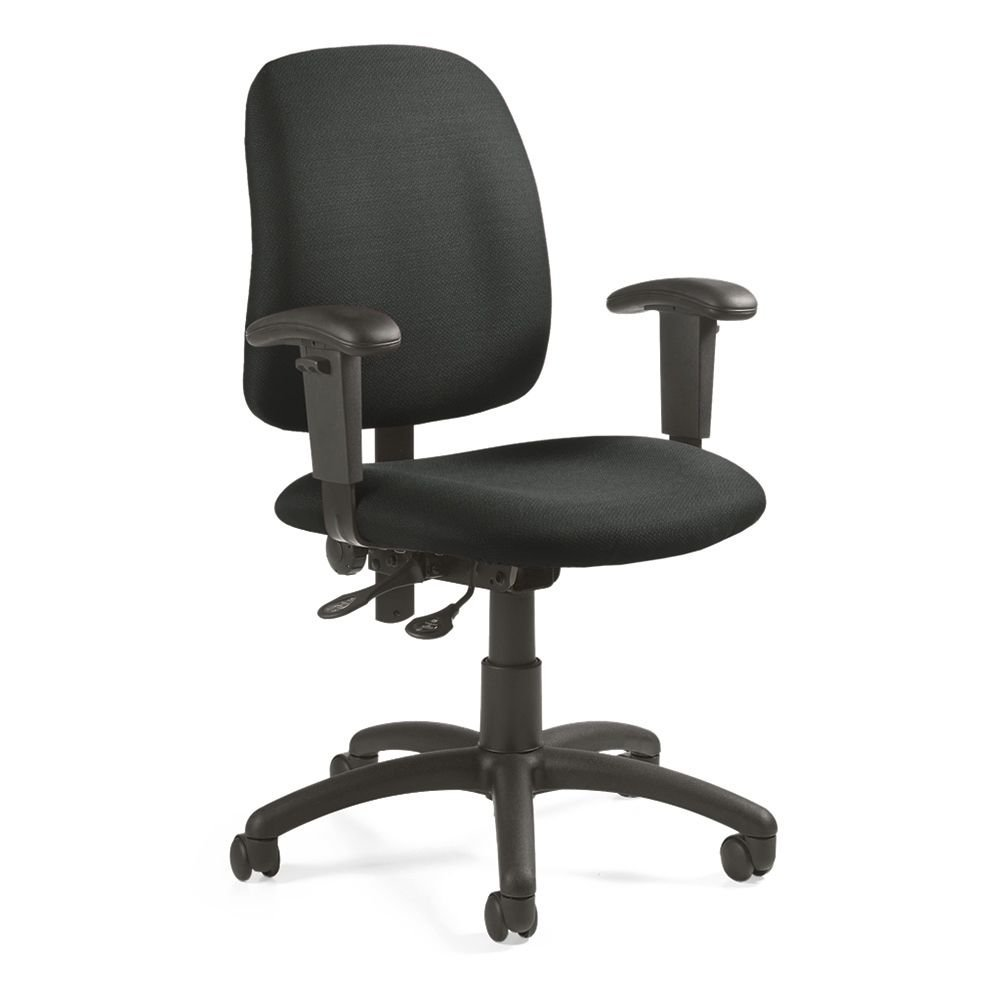 "Goal Fabric Low Back Task Chair Stone Fabric/Black Base Dimensions: 25""W x 22.5""D x 36""H Seat Dimensions: 20""Wx17""Dx15.5-20.5""H Back Dimensions: 18.5""Wx18-21""H Weight: 41 lbs"
