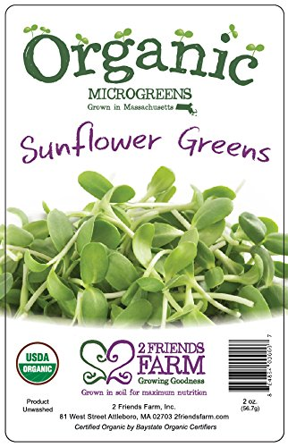 2 Friends Farm Local Northeast Organic Sunnies Microgreens 2oz