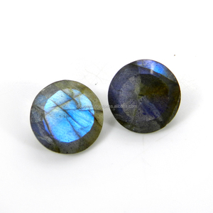 Blue fire labradorite 12mm round cut 4.5 cts loose gemstone