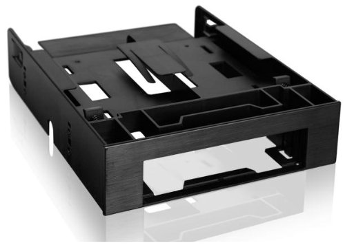 ICY DOCK Dual 2.5 SSD 1 x 3.5 HDD Device Bay to 5.25 Drive Bay Converter/Mounting/Kit/Adapter - FLEX-FIT Trio MB343SP