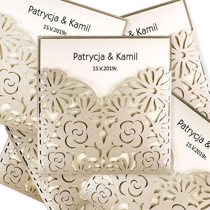 Laser Cut Paper Wedding Cards Invitation Blank Wedding Beautiful