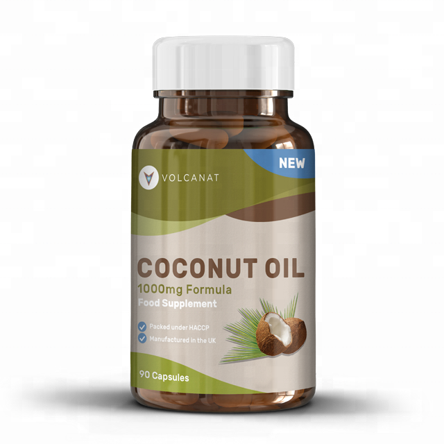 Volcanat Health Coconut Oil 1000mg Softgels Food Supplement Premium Bottled  Wholesale Diet Supplements Private Label Available - Buy Health Products