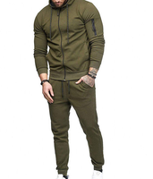 2019 China garment factory OEM tech 100% cotton fit urban tracksuit