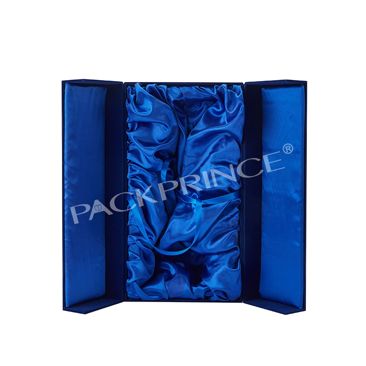 Magnetic Closure Paper Cardboard Satin Lined Custom Hair Extension Packaging Logo Box With Silk Satin