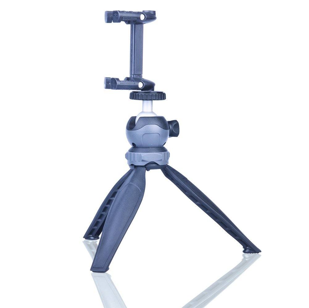 DAYOOH Mini Tripod - Travel Tabletop Tripod - Lightweight Table Tripod Stand with Swivel Ball Head for DSLR Camera Cellphone Gopro, Grey