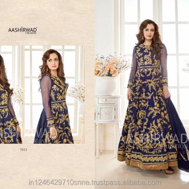81f1c68519 designer latest pakistani salwar kameez floor length anarkali export  quality wholesale suits low price blue colour