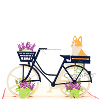 Wholesale Birthday Bike differences pop up greeting card
