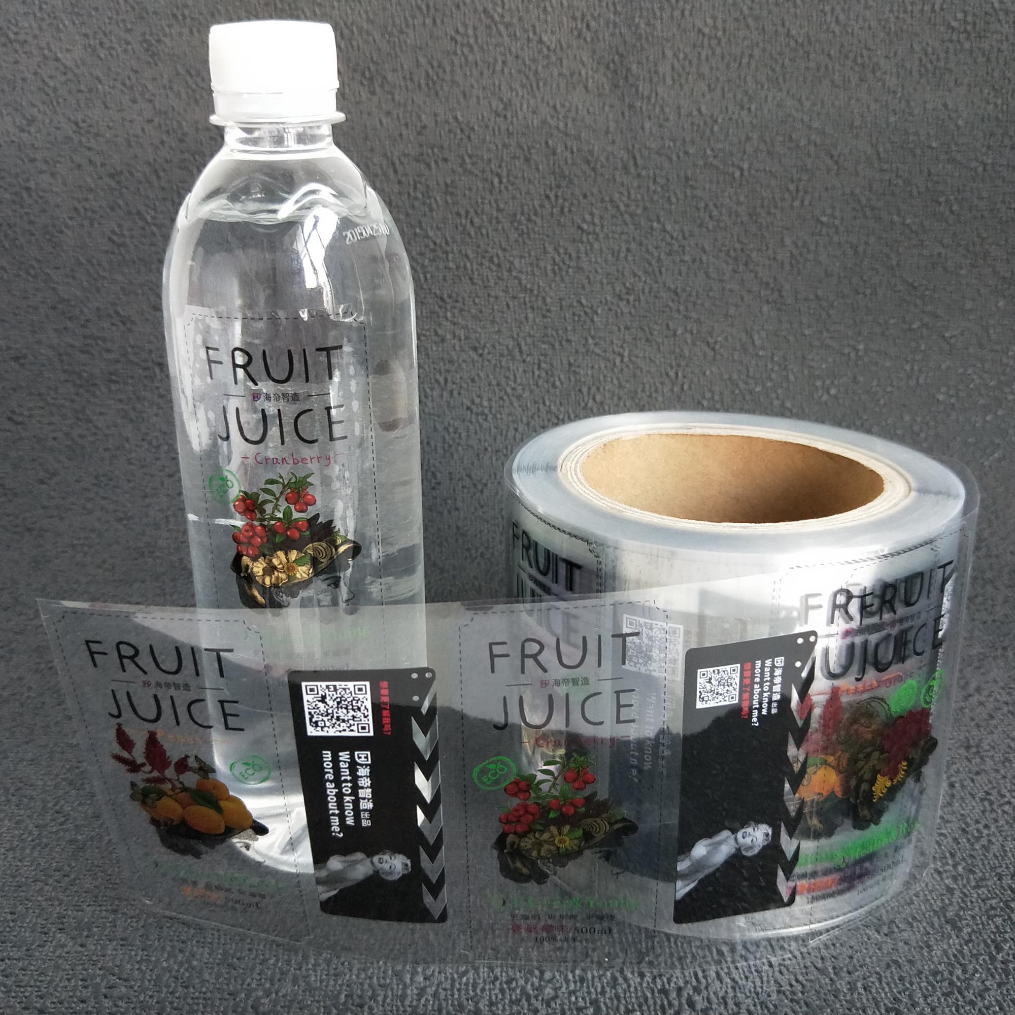 Kustom botol jus kemasan jelas label botol minuman label perekat