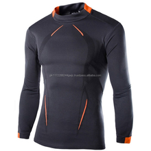 2017 OEM Newest fitness men long sleeve sports t shirt/Men muscle bodybuilding gym compression tight fit t-shirt Fast Drying