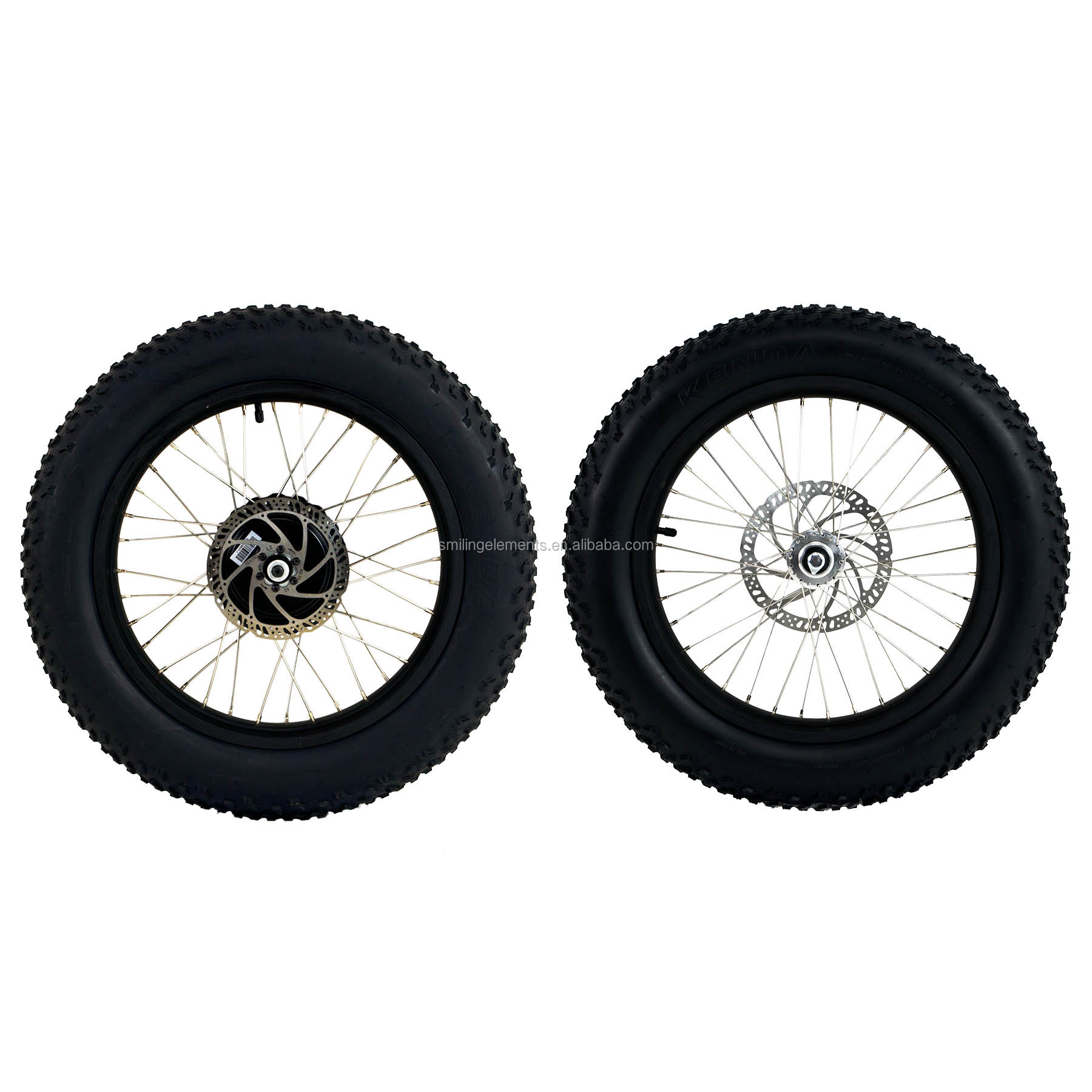 "OEM/ODM Taiwan KENDA 20x4.0"" Fat wheel set with 48V 500W Motor hub for Electric bicycle"