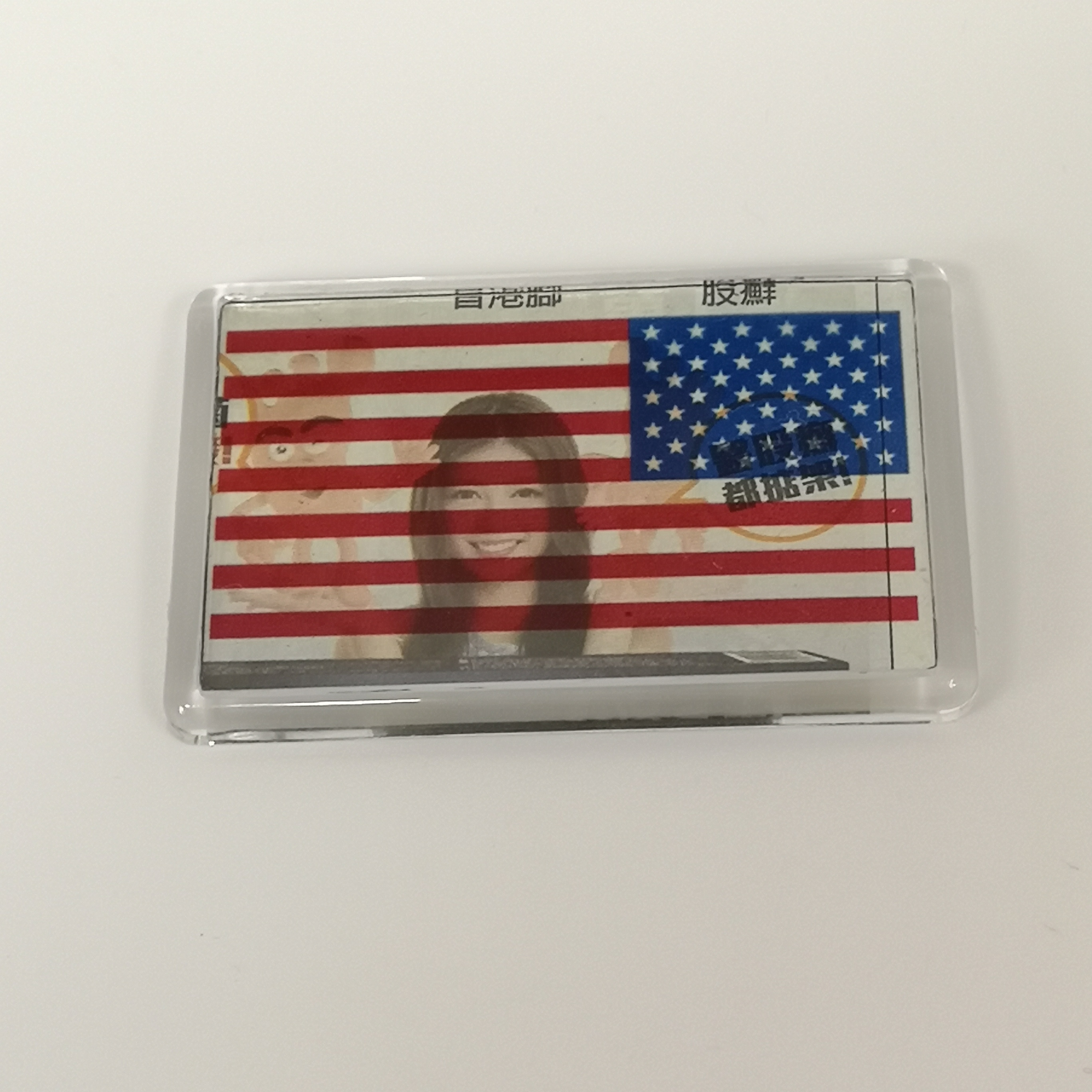2019 New Item STARWOOD#C1108/F 70*45mm National Flag <strong>Photo</strong> <strong>Fridge</strong> <strong>Magnet</strong>