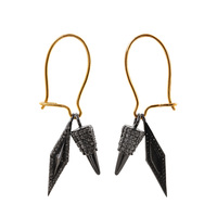 925 Sterling Silver Spike Components 14k Yellow Gold French Wire Earrings Wholesale Fashion Jewelry