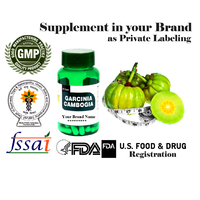 GMP Certified USFDA Garcinia Cambogia weight loss diet pills private label in bottles
