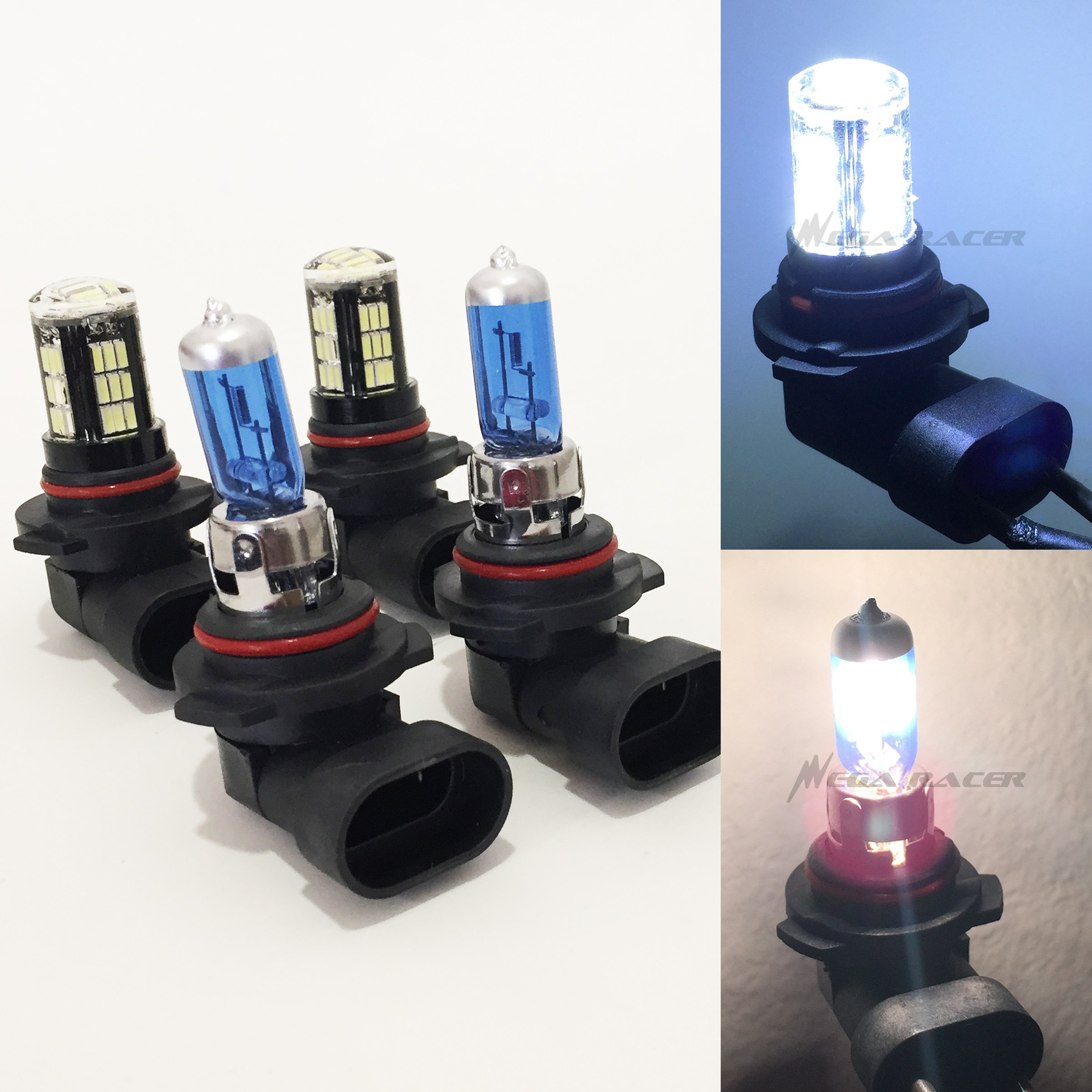 Get Quotations Combo 9006 Hb4 White 100w Halogen 9005 Hb3 Crystal Clear 42 Led Xenon Light