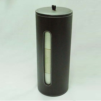 Pu Leather Three Roll Spare Toilet Paper Holder