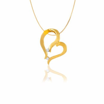 Variation designer gold pendant sets for women chainheart shape variation designer gold pendant sets for women chain heart shape aloadofball Images