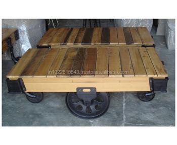 Vintage Wheels Furniture Coffee Table